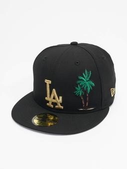 New Era Mlb Properties Los Angeles Dodgers 59fifty Snapback Cap Black Metalic