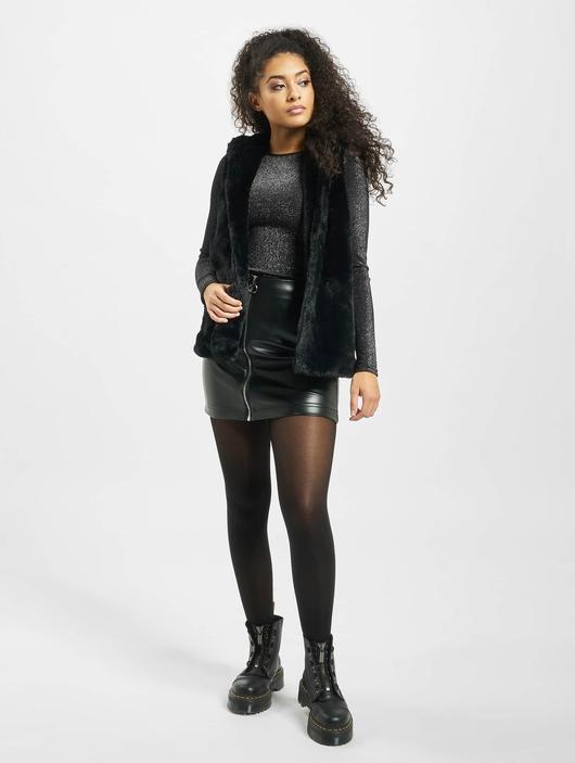 Urban Classics Ladies Hooded Faux Fur Vests image number 5