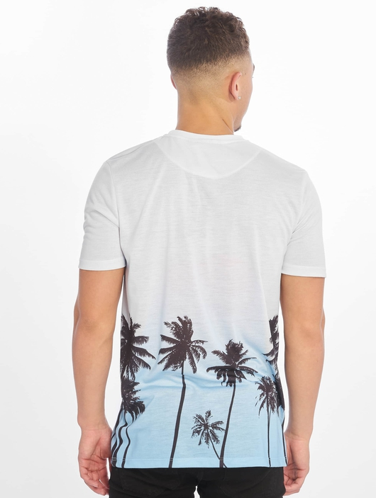 Criminal Damage Palm Tree T-Shirt Blue Multi image number 1