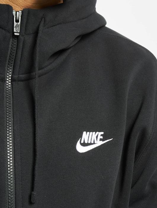 Nike Club Hoodie Full Zip Black/Black/White image number 3