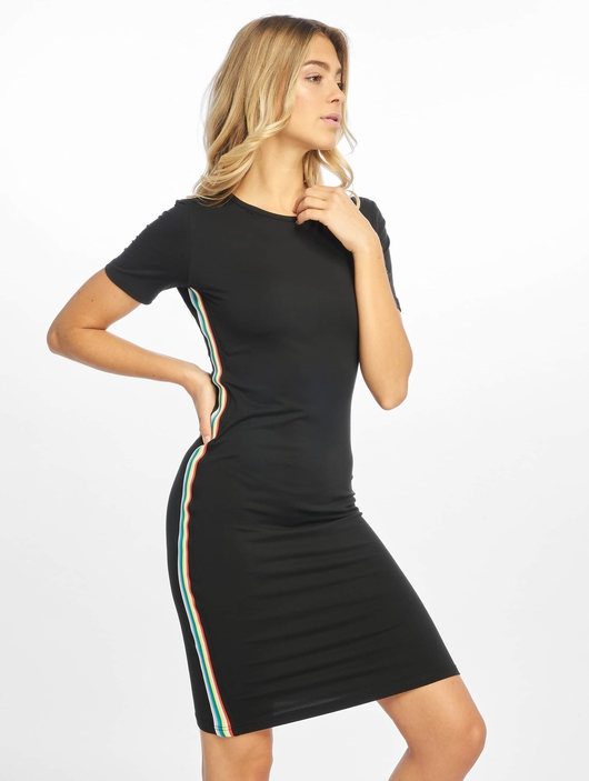 Urban Classics Multicolor Side Taped Dress Black image number 0