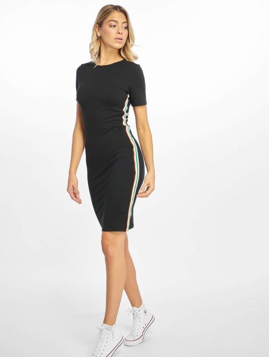 Urban Classics Multicolor Side Taped Dress Black image number 3