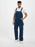 Dickies Bib Overall Pants Washed Indigo (W 42  L 32 blue) image number 5