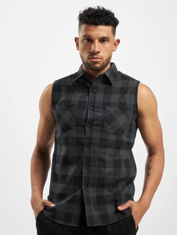Urban Classics Sleeveless Checked Flanell Shirt