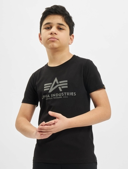 Alpha Industries Basic T-Shirt Kids/Teens Reflective Print
