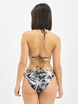 Urban Classics Ladies Palm Bikini Black/White image number 1