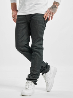 Nudie Jeans Grim Tim Straight Fit Jeans grå