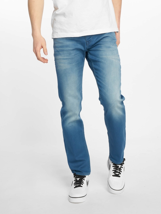 Jack & Jones jjiTim jjLeon Slim Fit Jeans Blue Denim image number 2