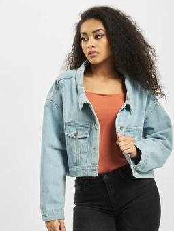 Missguided Drop Hem Oversized Denim Jacket