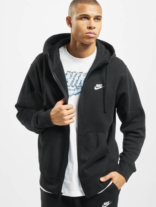 Nike Club Hoodie Full Zip Black/Black/White image number 0