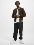 Urban Classics Contrast Sweat College Jacket Brown/Beige image number 5