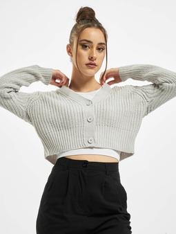 Urban Classics Ladies Short Cardigans grå
