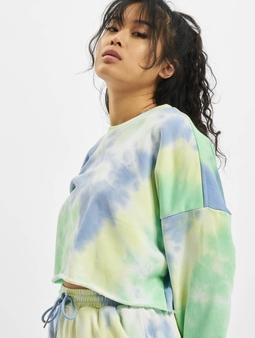 Sixth June Tie&dye Cropped Sweatshirt Blue