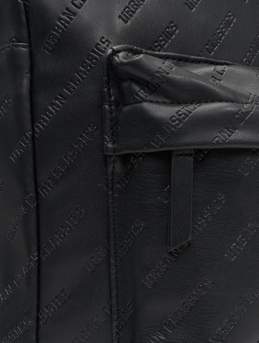 Urban Classics Imitation Leather Backpack Black image number 7