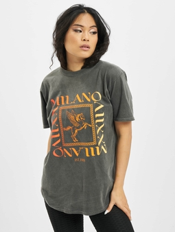 Missguided Milano Multi Graphic Ss Oversized T-Shirt