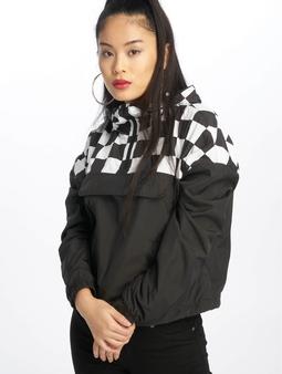 Urban Classics Short Oversize Check Pull Over Jacket Black/Chess