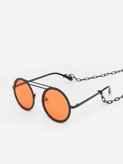 Urban Classics Chain Sunglasses Black/Orange