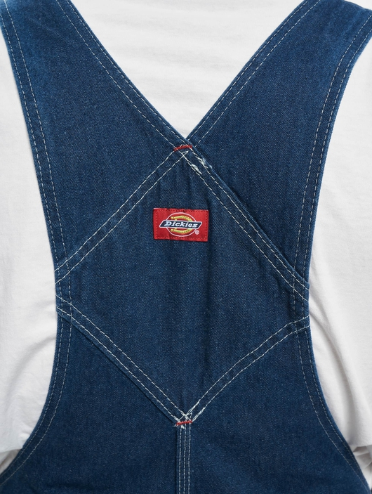 Dickies Bib Overall Pants Washed Indigo (W 42  L 32 blue) image number 3