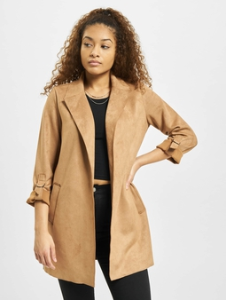 Only onlJoline Faux Suede Coat Toasted Coconut