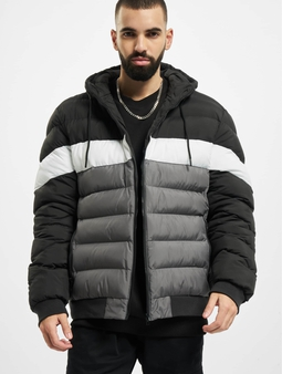 Urban Classics Colorblock Bubble Jacket Black/Darkshadow