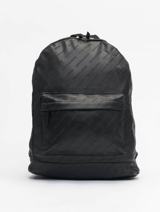 Urban Classics Imitation Leather Backpack Black image number 0