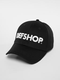 DefShop Snapback Cap Black