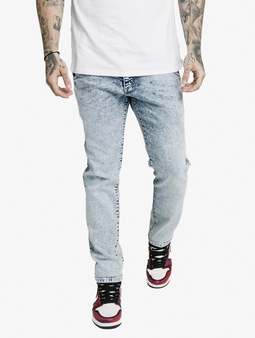 Sik Silk Cut Recycled Denim Straight Fit Jeans
