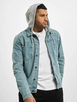Sik Silk Hooded Denim Jacket Light Blue Wash