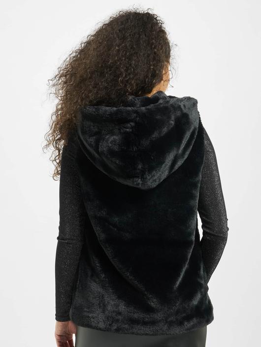 Urban Classics Ladies Hooded Faux Fur Vests image number 1
