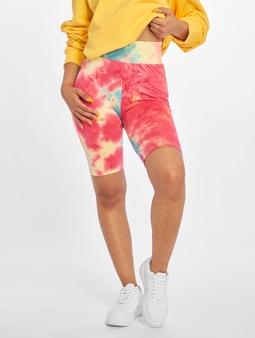 Urban Classics Tie Dye Cycling Shorts Brightyellow/Lightblue