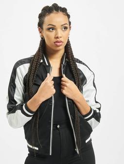 Urban Classics Ladies 3 Tone Souvenir Jacket Black/Off