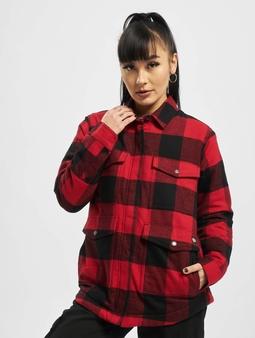 Dickies Plaid Sherpa Chore Shirt English Red/Black Buffalo Plaid