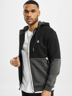 Just Rhyse Conway Zip Hoody Black Anthracite