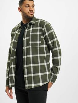 Sky Rebel Shirt Green/Beige Check