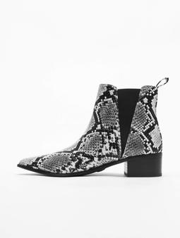 Buffalo Finola Chelsea Boots Black/White Snake
