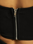 Missguided High Bust Point Long Sleeve Corset Crop Body Black image number 4