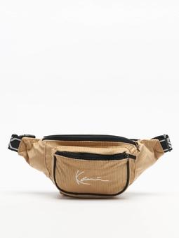 Karl Kani Signature Cord Tape Bag Camel