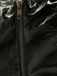 Missguided Vinyl Mock Croc Racer Neck Crop Body Black image number 3