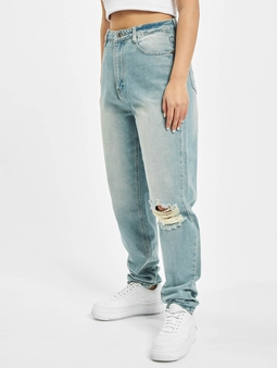 Missguided Riot Single Busted Knee Mom Jeans