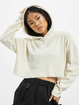 Missguided Cropped Hoody Ivory