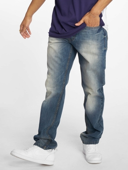 Rocawear TUE Relax Fit Straight Fit Jeans blå