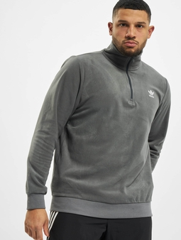 Adidas Originals Essential Half Zip Sweater Grey Five