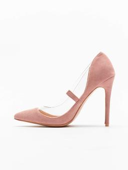 Missguided Perspex Trim Court  Pumps rosa