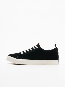 Urban Classics Velor Sneakers Black/Stripes