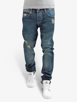 Authentic Style Sky Rebel Straight Fit Jeans Dark Blue Denim