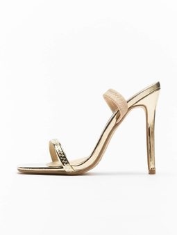 Missguided Elasticated Strap Square Toe Barley Sandals