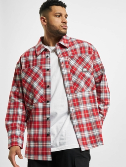 Southpole Checked Woven Skjorter red