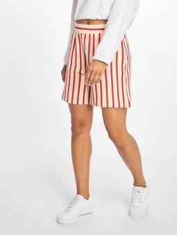 Pieces pcBora Medium Waist Shorts Almond Milk/Stripes Aura