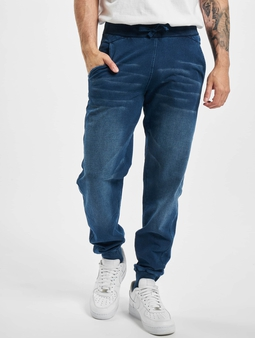 Urban Classics Denim Sweat Pants Original (M blue)