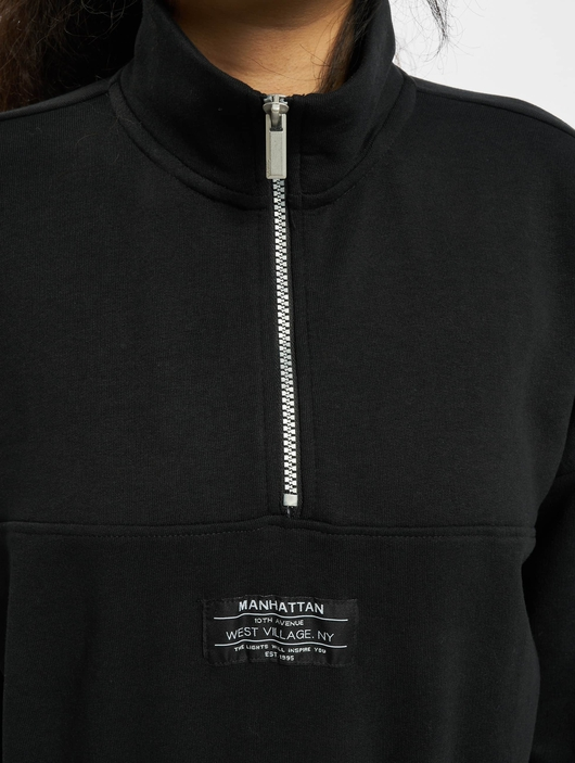 Only onlKira Life Half Zip Sweatshirt Black image number 3